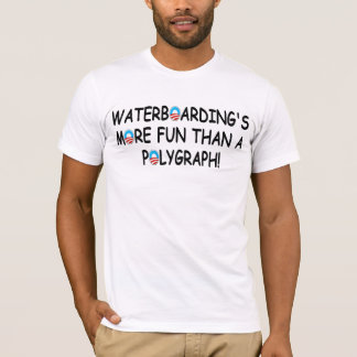 T-shirt Pro waterboarding, anti Obama