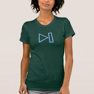 T-shirt Prochaine chemise bleue simple d'icône de bouton