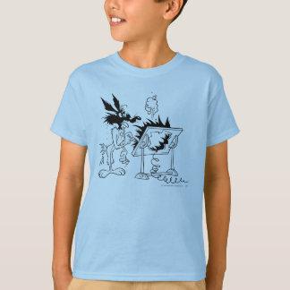 T-shirt Produits 6 de point culminant de coyote du Wile E