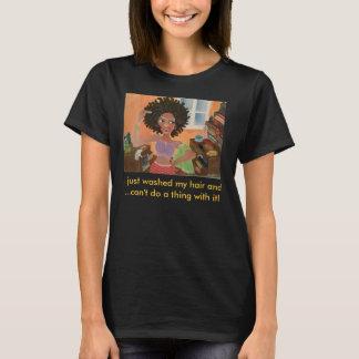 T-shirt Produits capillaires d'art noir d'Afro-américain