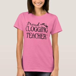 T-shirt Professeur obstruant fier doux dans le noir avec
