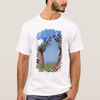 T-shirt profil latéral de deux joueurs de football jouant