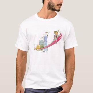T-shirt Profil latéral d'un homme d'affaires s'asseyant
