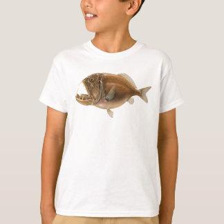 T-shirt profond de poisson de mer de Fangtooth