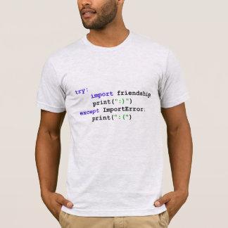 T-shirt Programme de python : Soyons des amis