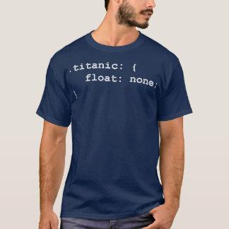 T-shirt Programmeur Titanic de promoteur