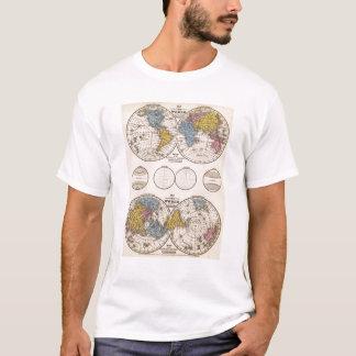 T-shirt Projection équatoriale du monde et projection