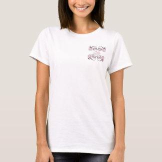 T-shirt promotionnel d'affaires chics noires roses