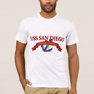 T-shirt Propriétaire USS San Diego de planche