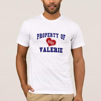 T-shirt Propriété de Valerie