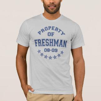 T-shirt Propriété d'étudiant de première année