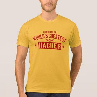 T-shirt Propriété du plus grand pirate informatique du