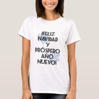 T-shirt Prospero Ano Nuevo de Feliz Navidad Y