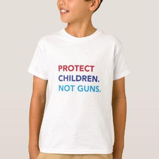 T-shirt Protégez les enfants. Pas armes à feu. Pièce en t