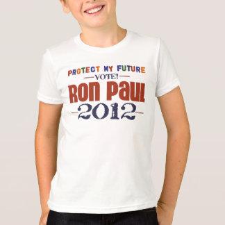 T-shirt Protégez mon futur Ron Paul 2012