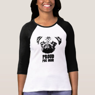 T-shirt proud pug mom