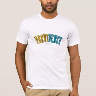 T-shirt Providence dans des couleurs de drapeau d'état