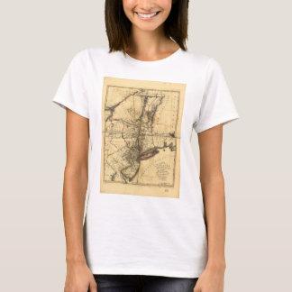 T-shirt Province de la carte de New York et de New Jersey