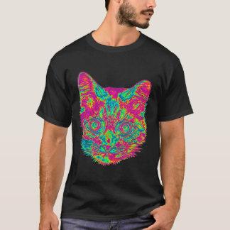 T-shirt psychédélique de chat - noir