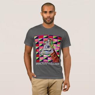 T-shirt psychédélique de girafe par NJPunks