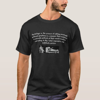 T-shirt Psychologie : noir de N.