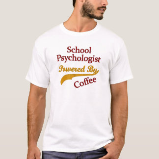 T-shirt Psychologue d'école actionné par le café