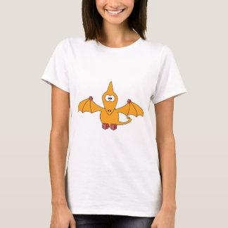 T-shirt Ptérodactyle de bande dessinée (jaune)