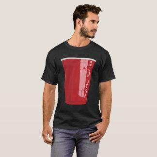 T-shirt Puanteur rouge de bière de chemise de tasse