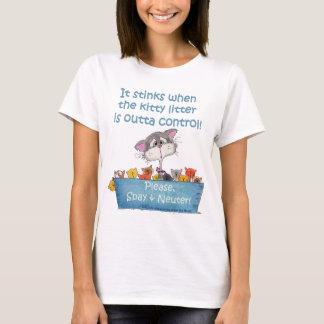 T-shirt Puanteurs d'ordures de Kitty