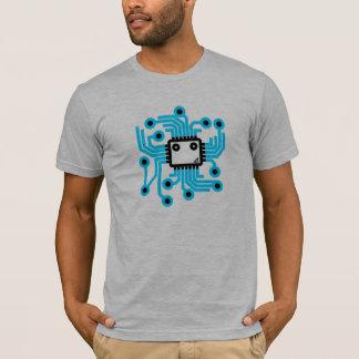 T-shirt Puce au néon d'unité centrale de traitement