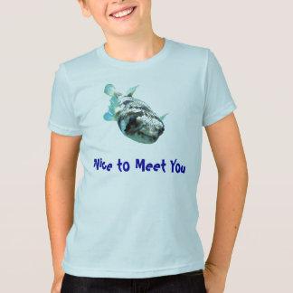 """T-shirt Pufferfish curieux de porc-épic """"Nice de vous"""