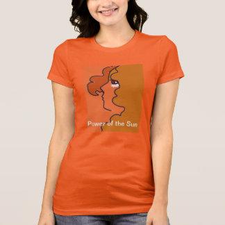 T-shirt Puissance de la pièce en t de Sun