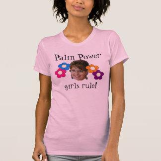 T-shirt puissance de palin avec des fleurs