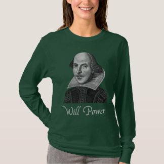 T-shirt Puissance de volonté de William Shakespeare
