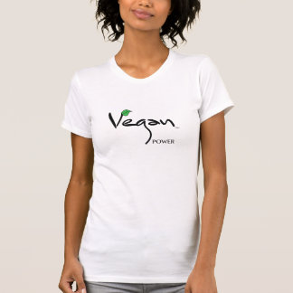 T-shirt Puissance végétalienne avec le cool vert de