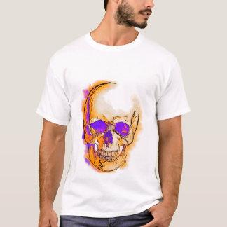 T-shirt Purple skull