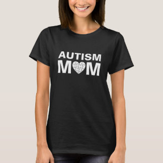 T-shirt Puzzle d'amour de coeur de maman d'autisme