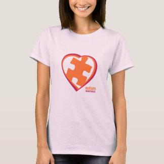 T-shirt Puzzle de sensibilisation sur l'autisme au coeur