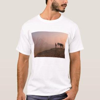 T-shirt Pyramides de l'Afrique, Egypte, le Caire, Gizeh,