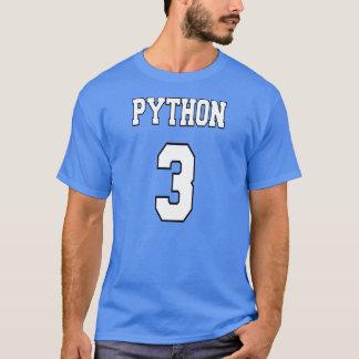 T-shirt Python 3 : Blanc/conception bleue pour des