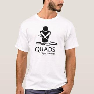 T-shirt QUADRUPLES : J'obtiendrai les lattes