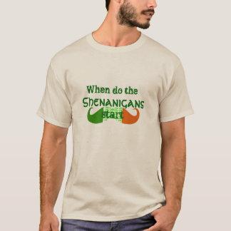 T-shirt quand faites le jour de St Patrick de début de