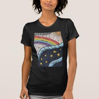 T-shirt Quand il pleut recherchez les arcs-en-ciel