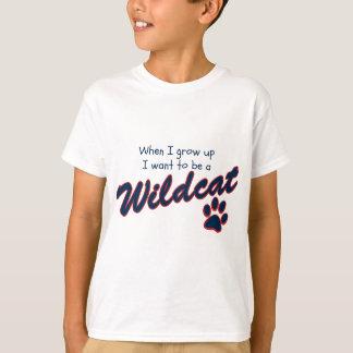 T-shirt Quand je me grandis voulez être un chat sauvage