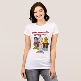 T-shirt Quand les femmes votent, les femmes GAGNENT le