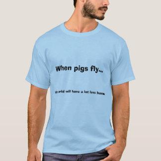 T-shirt Quand les porcs volent