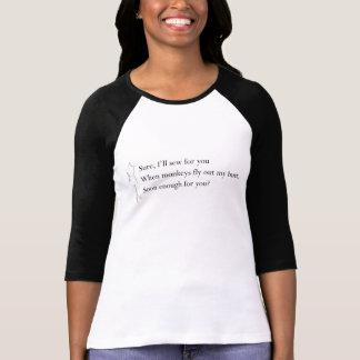 """T-shirt """"Quand les singes chemise pilotent mon bout"""""""