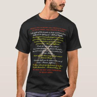 T-shirt Quand vous enlevez les personnes droites de