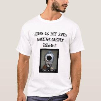 T-shirt quarante-cinq-pistolet et 2ème amendement