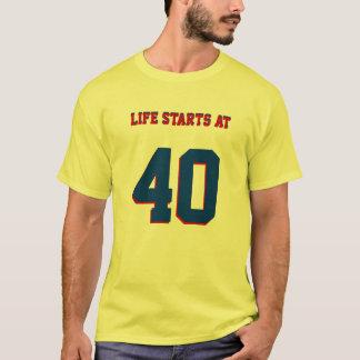 T-shirt quarantième Débuts de la vie de plaisanterie